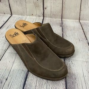 Sofft Leather Mule 8 brown clog comfort shoe